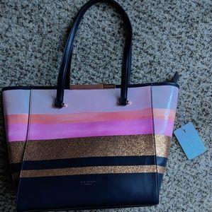 Ted Baker Mosaic Stripe Pink Navy Handbag